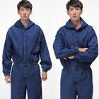 Vintage Mens Denim Hoodie Coveralls Overalls Choose long sleeves jeans Jumpsuit