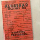 TEACHING TEXTBOOKS ALGEBRA 2 SOLUTIONS CDS Step by Step Instructions Homeschool