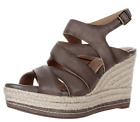 NEW Clarks Indigo Amelia Drift Dark Gray Espadrilles US 95M Sandals 64375
