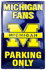 Michigan Wolverines Fan Parking Only 12 x 18 Metal Sign Man Cave USA SHIPPER