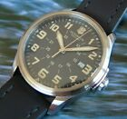 VicTorinoX SWISS ARMY~Men's INFANTRY VINTAGE ClaSSiC~SaPphiRe+OliVe DiaL+LeatHer