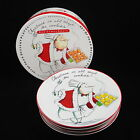 Christmas Chefs Set of 4 Dessert Plates Tracy Flickinger Certified International