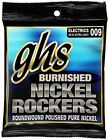 GHS Strings BNR-XL Burnished Nickel Rockers, Polished Pure Nickel Electric Guita