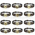 Retro Layered Handmade 12 Constellation Zodiac Beaded Braided Leather Bracelet