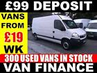 09 59 VAUXHALL MOVANO 25CDTI LWB HR 80K 350 USED VANS FROM ONLY 19 A WK