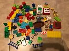 HUGE LOT 96 pc Lego Duplo From Zoo & Pirate Ship Sets w/ Figures Animals Car