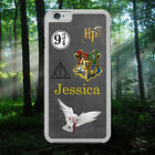 HARRY POTTER/CREST/HEDWIG/PERSONALISED NAME/HARD PHONE CASE/COVER FOR IPHONE