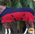 """74"""" HILASON UV BUG MOSQUITO AIRFLOW MESH HORSE COOLER FLY SHEET RED NAVY BLUE"""