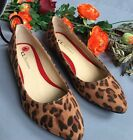Chinese Laundry NEW Gavin Leopard Print Pointed Flat Size 8