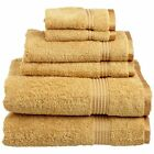 OpenBox Superior Egyptian Cotton 6-Piece Towel Set Gold