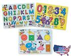 Melissa  Doug Disney Wooden Peg Puzzles Set Letters Numbers and Shapes and C