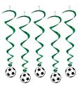 Soccer Hanging Swirls Set Of 5 Birthday Party Decorations
