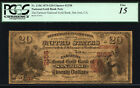 $20 Farmers National Gold Bank San Jose CH 2158 FR 1156 RARE SILICON VALLEY NOTE