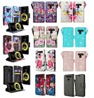 LG V30 Design Wallet Credit Card ID Stand Flip Cell Phone Case Cover Accessory