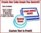 CUSTOM EDIBLE CAKE BIRTHDAY IMAGE Frosting Sheet Topper USE YOUR PHOTO
