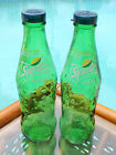 Sprite SALT  PEPPER SHAKERS 1 pair of 8oz Sprite glass bottles and caps