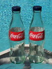 Coca Cola SALT  PEPPER SHAKERS 1 pair of 8oz Coca Cola bottles and caps Coke