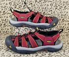 KEEN NEWPORT H2 WATERPROOF MENS SANDALS SIZE 8 RED SPORT ATHLETIC SHOES