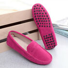 Womens Loafers Ladies Suede leather Driving Shoes Moccasins Slipper Flats