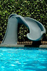 SR Smith Cyclone Fun Slide For Swimming Pool Gray Right Curve 698 209 58124
