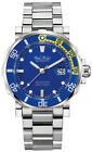 Paul Picot Yachtman III Classic Stainless Steel Band & Blue 43mm Automatic Watch