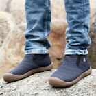 Mens Warm Snow Boot High Top Slip On Fur Lined Breathe Sneaker Shoes Outdoor