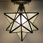 12 Convex Glass Moravian Star Ceiling Light Flush Mount Ceiling Lamp Fixture