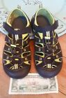 KEEN SANDALS WATERPROOF SHOES BOYS YOUTH SIZE BLACK GREEN EUR 37 US 5 EUC