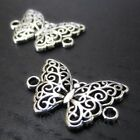 Butterfly Charms 20mm Antiqued Silver Plated Connector C2625 10 20 Or 50PCs