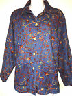 APRIL CORNELL WOMENS LADIES DENIM EMBROIDERED 100% COTTON SPRING JACKET COAT ~ S