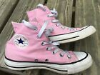 Converse Chuck Taylor All Star Pink High Top Canvas Women Shoes M4 W6 Excellent