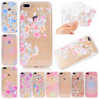 Soft TPU Patterned Ultra Thin Clear Rubber Gel Case Cover For iPhone 6s 7 Plus 8