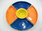 Fiestaware 6 pc Relish Entertaining set Sunflower, Lapis & Tanger. Includes tray