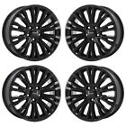 18 CHRYSLER 200 BLACK WHEELS RIMS FACTORY OEM 2012 2013 2014 SET 2392 EXCHANGE