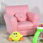 Kids Sofa Armrest Chair Couch Children Living Room Birthday Gift w Pillow Pink