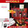 HILTI TE 56 HAMMER DRILL, PREOWNED, FREE ROTATING LASER, BITS, QUICK SHIP