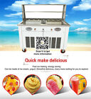 fried ice cream machine,45cm*45cm pan ice cream maker with 2 temperature control