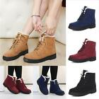 Womens Winter Warm Casual Faux Suede Fur Lace up Ankle Boots Snow Boots Shoes EL