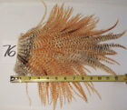 BARRED GINGER GRIZZLY ROOSTER SADDLE HACKLE BASS HAIR STREAMER FEATHERS 76
