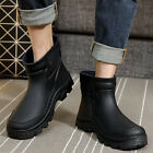 Mens Boys Waterproof Rubber Ankle Rain Boots fishing outdoor Wellies Shoes new