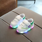 LED Light Up Flashing Shoes Trainers Shell Toe Sneakers For Baby Kids Boys Girls