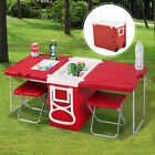 Multi Function Rolling Cooler Picnic Camping Outdoor Backyard Table