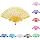 New Chinese Style Dance Party Wedding Lace Folding Hand Held Flower Fan Fad