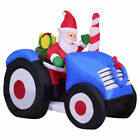 6 Indoor Outdoor Inflatable Santa On Truck Christmas Xmas Holiday Decoration