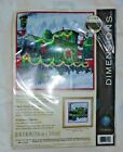 Dimensions Santas Express green train Christma-Snow--Counted Cross Stitch KIT