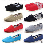 Fashion Women Classics TOM Loafers Canvas Slip On Flats shoes Size 6 10