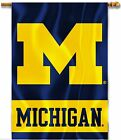 University of Michigan M 2 sided Premium Flag 28x40 Sleeved Porch Banner