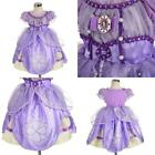 Girls' Princess Sofia Dress Up Costume Cosplay Fancy Party Size 3T Short Style