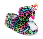NWT TY Beanie Boo DOTTY LEOPARD Plush Big Head Slipper X SMALL Kids Size 11/12