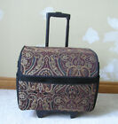 WHEELED SEWING MACHINE TRAVEL CASE LUGGAGE with RETRACTABLE HANDLE